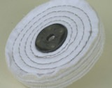 WHITE STITCHED MOP 102mm x 1 section (12mm approx) - T78600