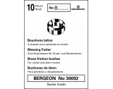 Bergeon 30092 NO B24 - Brass Bushes B24 2.50 x 3.00 x 4.50mm - CB1524