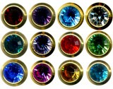 Birthstone Studs Assorted - A Box of 12 Pairs - E232