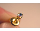 Trips Elite - 9ct Gold Tiffany Rainbow Crystal Diameter3mm - 1 pair - E303