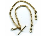 Double Close Curb Albert, Rolled Gold, Length 21cm - FA43