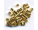 Crimp Tubes silver - Gold Plated, Medium - FC116