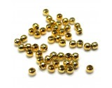 Crimp Beads Silver - Gold Plated, 1.8mm - FC212