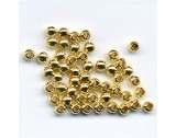 Crimp Beads Silver - Gold Plated, 2.5mm - FC214