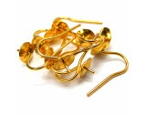 Cup & Peg Rolled Gold 4mm, 5 Pairs - FE33