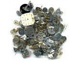 50g STEAMPUNK JEWELLERY ART CRAFTS CYBERPUNK COGS GEARS ETC WATCH PARTS - FS1380 new item