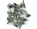 Tie Tack Backs Silver Finish - FT122