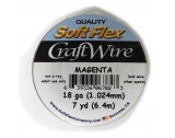Craft Wire - Magenta - 1.024mm Thick - 6.4m Length - FT218MAG