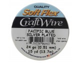 Craft Wire Blue - Silver Plated - 0.51mm Thick - 13.7M Length - FT2224SPBLUE