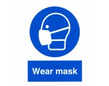 "Safety Sticker ""Wear Mask"" - HE98"