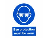 "Safety Sticker ""Eye Protection Must Be Warn"" - HE99"