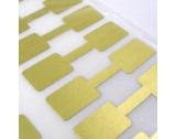 Gold Rectangular 11x16mm Dumbell Jewellery Tags - HL349 New Item
