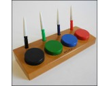 Black Friday Economy Oiler Set Of 4 Oilers & 4 Oil Cups On Wooden Stand - HO1539