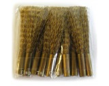 Brass Scratch Brush Ends (10) - HS221