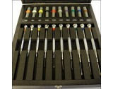 Bergeon 30080-A10 Set Of 10 Watchmakers Screwdrivers - HS30080-A10