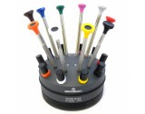 Bergeon 30081-S10 Set Of 10 Ergonomic Screwdrivers On Base 0.50 to 3.00mm - HS30081-S10