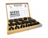 Robur T35 Set Of 35 Bakelite Watch Glass Fitting Dies - HU13
