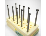 Fraizer Set Round Burrs, Set of 10 pces. - TFS1B BUSCH Meisinger Komet Jota Jewellery Dental Ball Drill Set