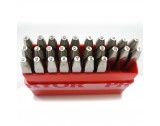 Straight Letter Block Punch Set A to Z Height 2.50mm - TP769