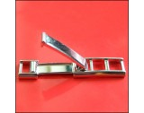 Rhodium Plated 6mm Fold-over Ladder Clasp