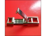 Rhodium Plated 7mm Fold-over Ladder Clasp, Spring Centre