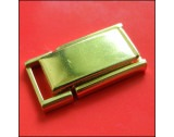 Rolled Gold 12mm Fold-over Clasp, Spring Centre