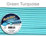 Soft Flex Wire .019 Green/Turqse Length 30 ft, 49 Strands ?.45 - FT452GRNTQ
