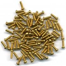 "Machine Screws Brass Round Head Length 3/8"" 6BA - CS3012"