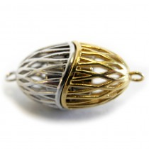Magnetic silver with gold plating clasp