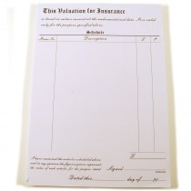 Valuation for Insurance Pads Books Sheets Page (100) - FB003 new item