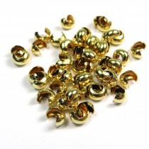 Crimp Bead Covers  Gold Filled - FC118