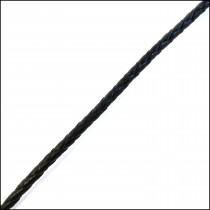 Leather Braided Cord 3mm in Black