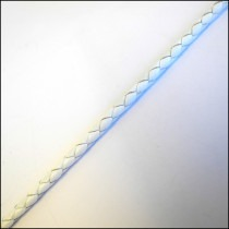 Leather Braided Cord 3mm in White