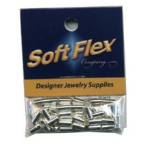 Silver Soft Flex Crimps 3mm x 5.5mm for Multi Strand Designs - FC35SIL