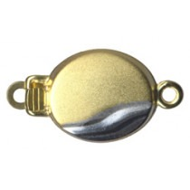 1 Row, Double Sided, Yellow Gold/Rhodium Plated Clasp - FC4438