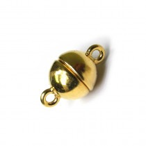 Magnetic Silver Clasp, ?8mm, Gold Plated - FC4471
