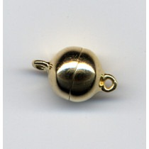 Magnetic Silver Clasp ?12mm, Gold Plated - FC4470