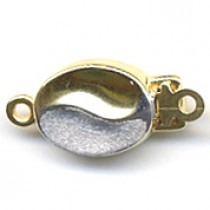 1 Row, Double Sided, Yellow Gold/Rhodium Plated Clasp - FC8125