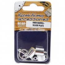 Silver Plated Kumihimo 8mm Findings Set