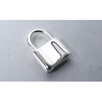 Magnetic Sterling Silver Padlock - Size: 9.5 x 12mm - FP31
