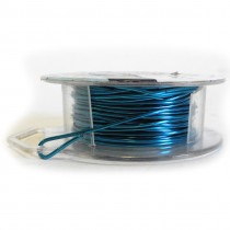 Craft Wire Blue - Silver Plated - 1.024mm Thick - 6.1M Length - FT2218SPBLUE