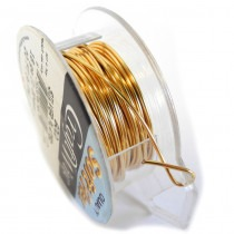 Craft Wire Gold - Silver Plated - 1.024mm Thick - 6.1M Length - FT2218SPGLD