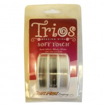Soft Touch Very Fine Trio - 10ft - Steel, black and white. - FT350TRIO