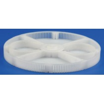 Basket Insert Plastic With 4 Divisions + 2 x Ø25mm Round Compartments For Greiner ACS900 Ø80mm Height 8mm - HC15895
