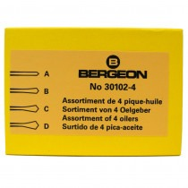 Bergeon 30102-4 Set Of 4 Oilers In Cardboard Box - HO30102-4