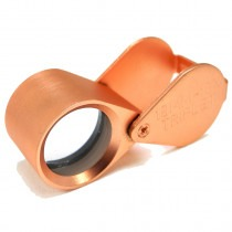Triplet Loupe 10x Magnification Rose Gold - HP4610RG
