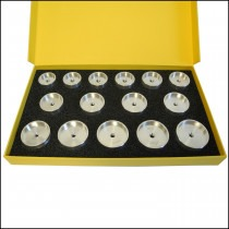 Glass Fitting Dies Aluminium For Tension Ring Glasses (Set Of 15) Bergeon 5499-15 - HP5499-15