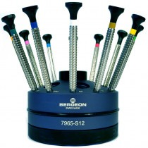 Screwdriver Set Of 12 Screwdrivers On Special Profile Stand Bergeon 7965-S12 - HS7965-S12