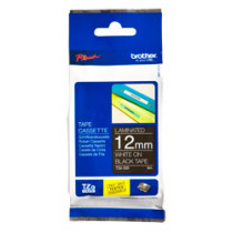 12mm White on Black Brother P-Touch Tape TZe-335- HTZ335