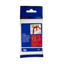 Brother TZe-RW34 Gold on Wine Red Ribbon Cartridge - HTZERW34